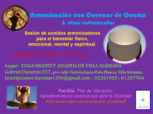 Armonización Grupal con Cuencos de CuarzoMAYOVALEMANA