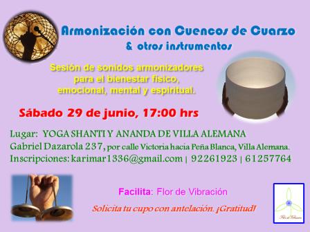 Armonización Grupal con Cuencos de Cuarzo