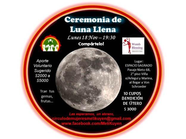 Ceremonia de Luna Llena Noviembre